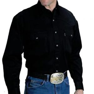 Men's Roper Shirt - Black Denim
