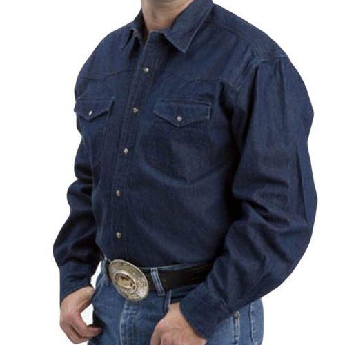 Men's Roper Shirt - Dark Blue Denim