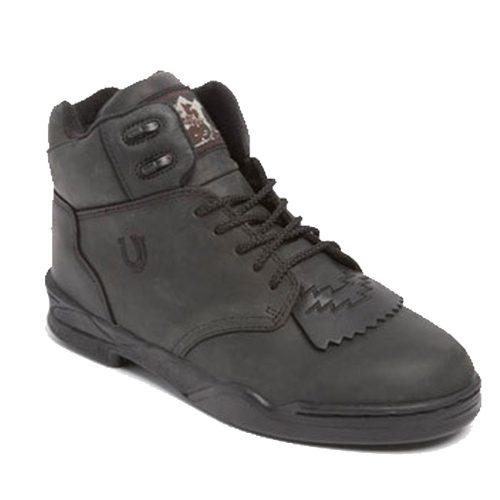 Roper Brand Lace-Up Horseshoes - Black