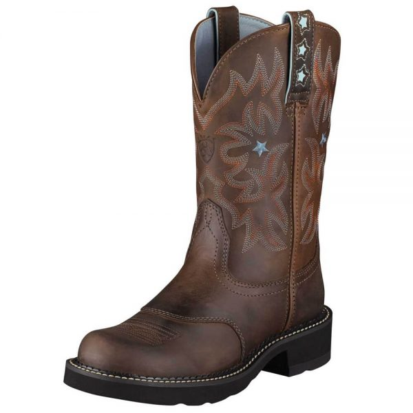 Ariat Ladies StarBaby Western Cowboy Boots - Driftwood Brown