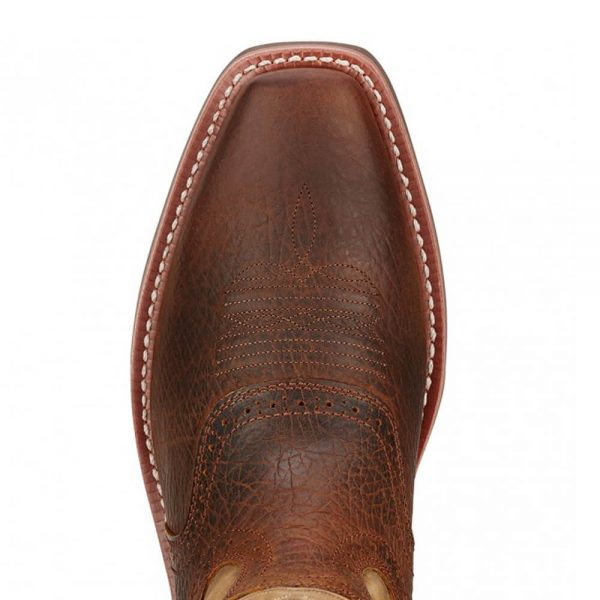 Ariat Mens Cowboy Heritage Roughstock Boots - Earth/Brown Bomber