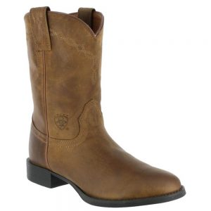 Ariat Mens Cowboy Heritage Roper Boots - Distressed Brown