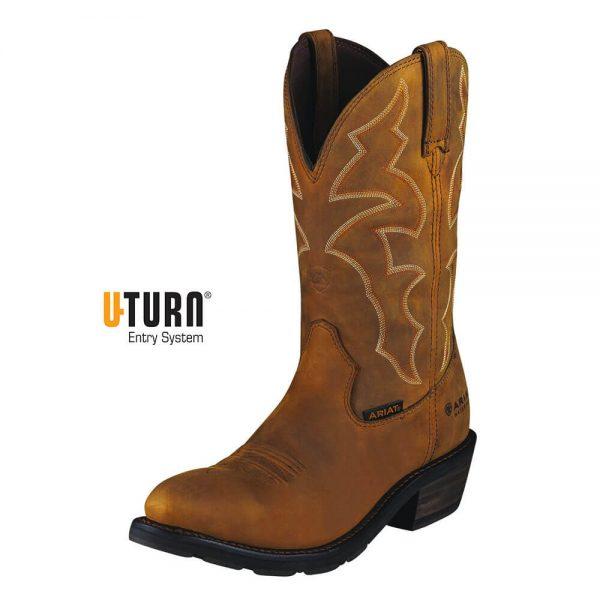 Ariat Ironside Waterproof Work Boot – Dusted Brown