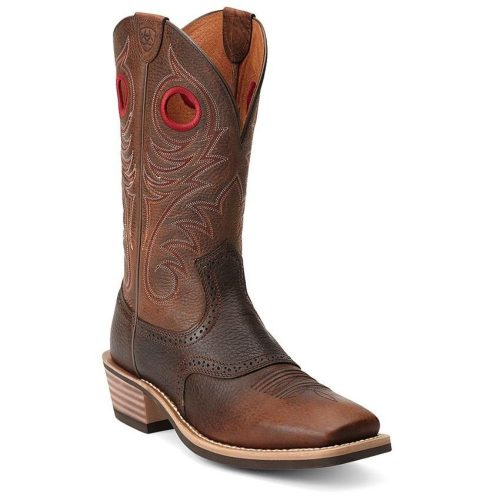 Ariat Men's Heritage Roughstock Wide Square Toe Western Boot