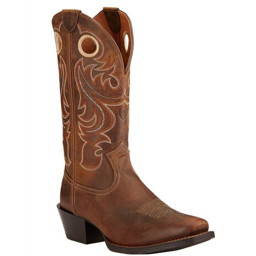 Ariat Mens Sport Boots Square Toe Powder Brown