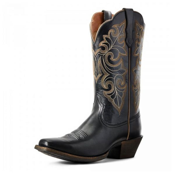 Ariat Women's Round Up Square Toe Western Boot Limousine Black