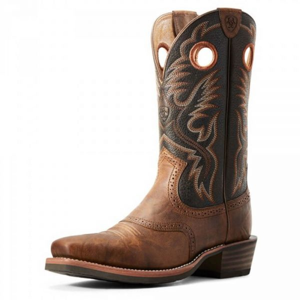 Ariat Men's Heritage Roughstock Western Boot Sorrel Crunch