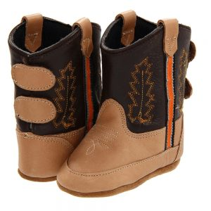 Old West Toddlers Poppets Western Cowboy Boots - Brown
