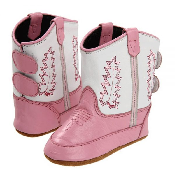 Old West Toddlers Poppets Western Cowboy Boots - Pink