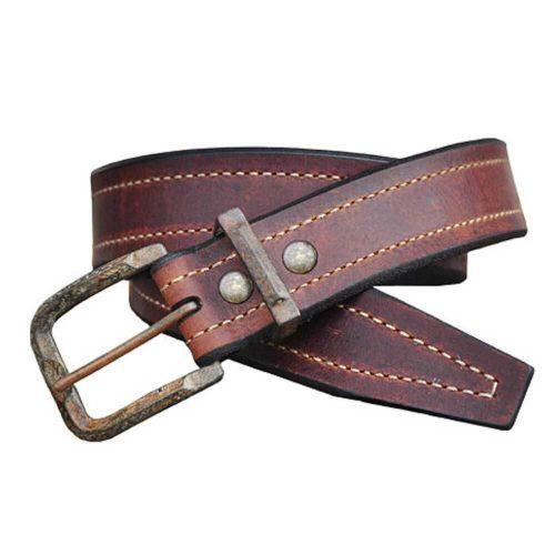 Lejon Vintage Bison Western Belt – Granada Saddle