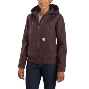Carhartt Women's Washed Duck Insulated Active Jac - Deep Wine