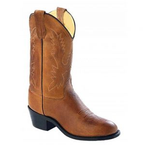 Old West Kids Western Cowboy Boots - Tan