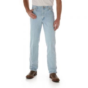Wrangler 13MWZGH Men's Regular Fit Jeans - Bleached Wash