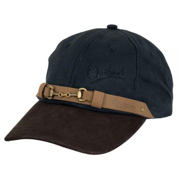 Oilskin Equestrian Cap - Black