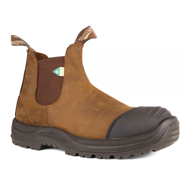 Blundstone 169 - Greenpatch CSA Rubber Toe Cap Crazy Horse Brown