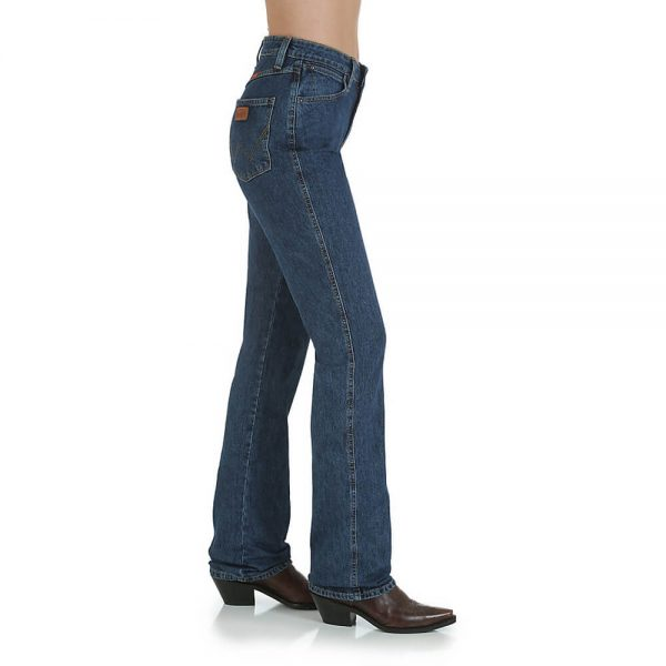 Wrangler Ladies Natural Rise - Stonewash