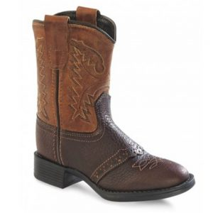 Old West Infants Western Cowboy Boots - Oiled Tan