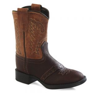 Old West Kids Western Cowboy Boots - Brown - Tan
