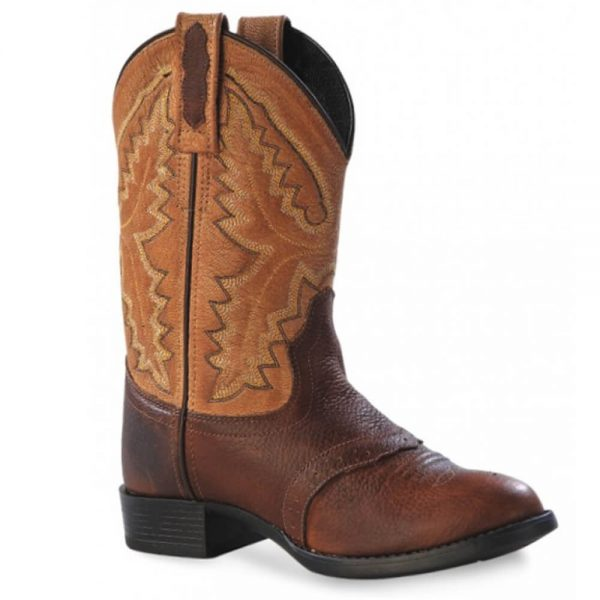 Old West Youth Western Cowboy Boots - Tan