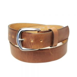 Marc Wolf Leather Belt 202 Plain Tan