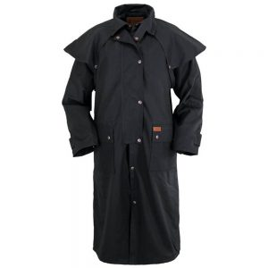 Outback Trading Oilskin Low Rider Duster - Black