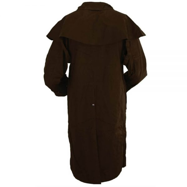 Outback Trading Oilskin Low Rider Duster - Brown