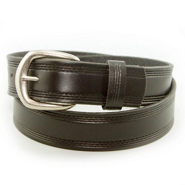 Marc Wolf Leather Belt 206 Embossed Black