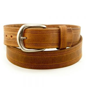 Marc Wolf Leather Belt 206 Embossed Tan