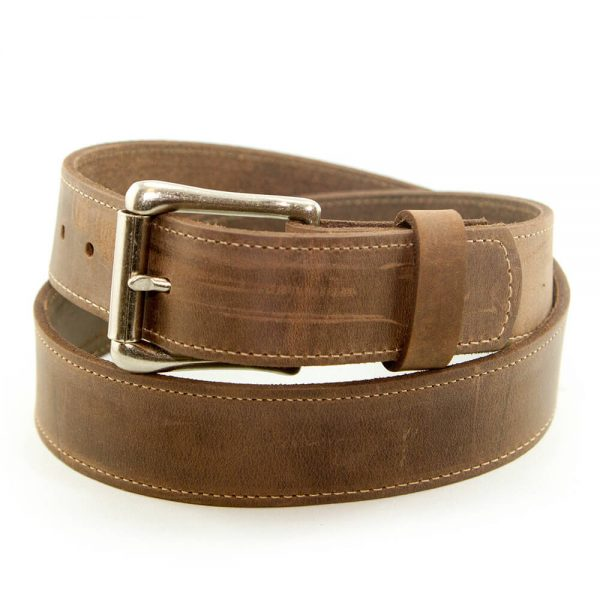 Marc Wolf Leather Belt 208 Plain Buck Tan