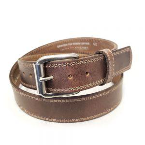 Marc Wolf Leather Belt 222 Buck Stitched