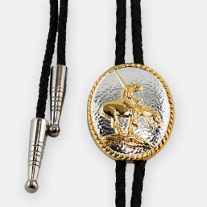 Double S Bolo Tie - End Of The Trail