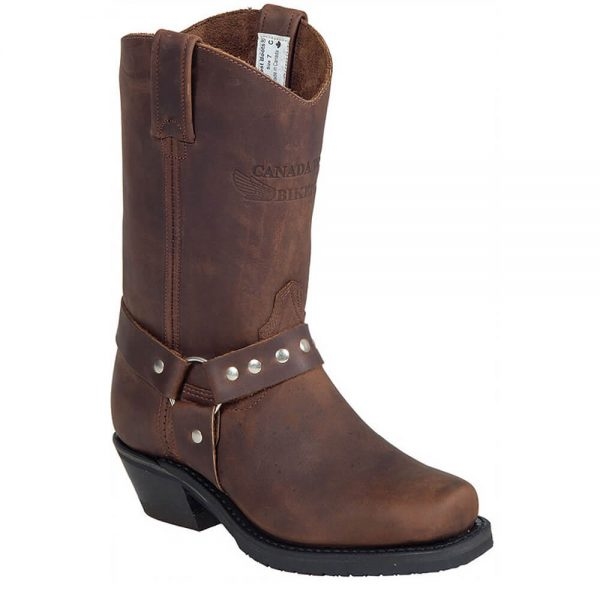 Canada West Ladies Biker Boots - Crazy Horse Brown