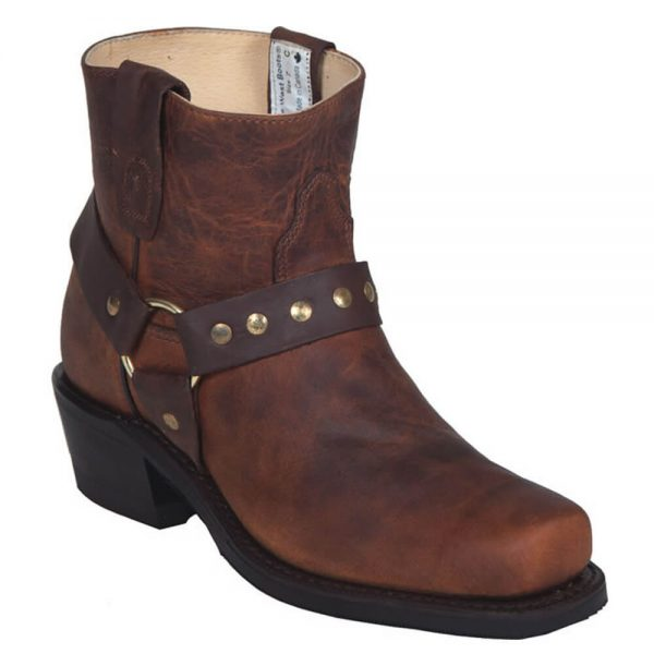Canada West Ladies Biker Boots - Tobacco Kodiak