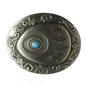 Nocona Belt Buckle - Clear Crystals