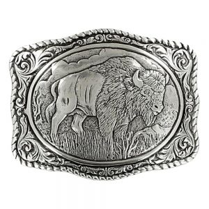 Crumrine Vintage Buffalo Belt Buckle