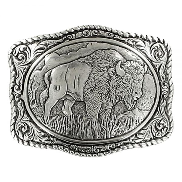 Crumrine Vintage Buffalo Belt Buckle