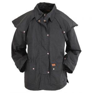 Outback Trading Oilskin Bush Ranger Jacket - Black