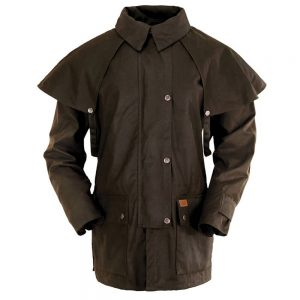 Outback Trading Oilskin Bush Ranger Jacket - Brown