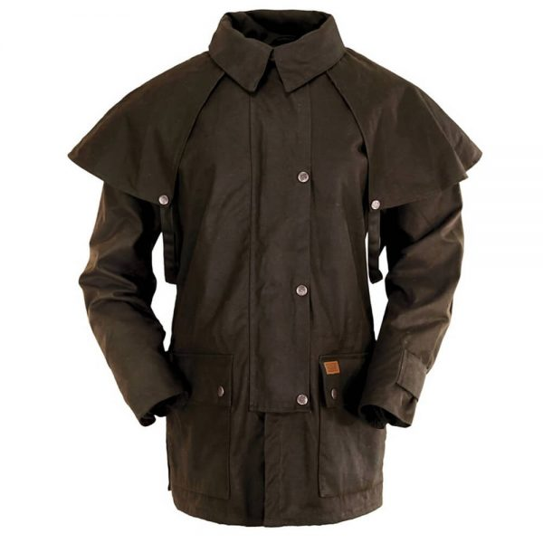 Outback Trading Oilskin Bush Ranger Jacket - Brown