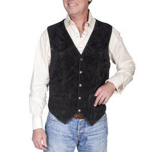 Scully Men's Black Suede Vest