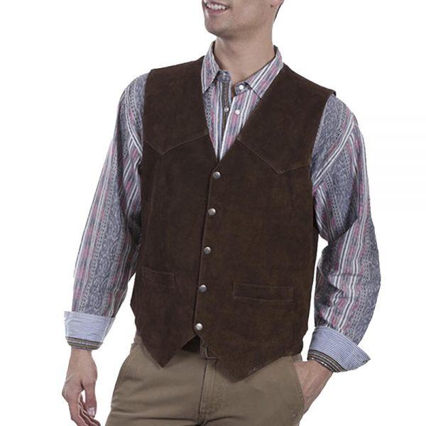 Scully Men's Brown Boar Suede Vest