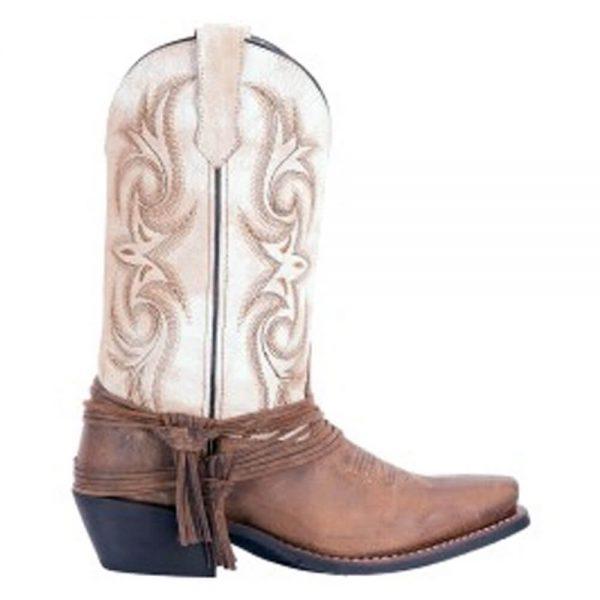 Laredo Myra Sand White Cowgirl Boots