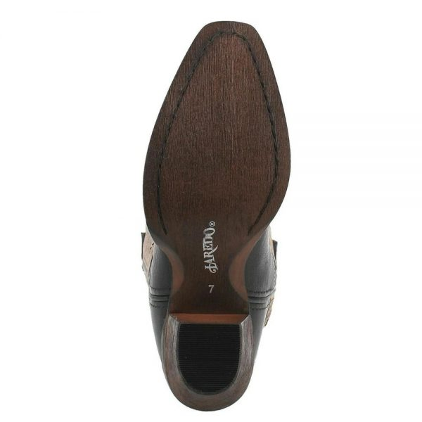 Dan Post Laredo® Ladies' Diamond In The Rough Black/Tan Snip Toe Western Boots