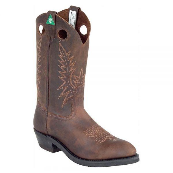 Canada West Work Western Cowboy Boots (CSA Steel Toe) - Crazy Horse