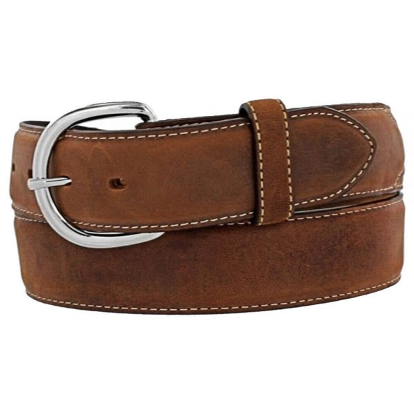 Silver Creek Classic Western Belt - Distressed Brown
