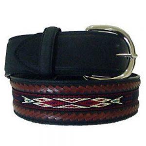 Silver Creek Laced Edged Horse Hair Ribbon Belt - Black