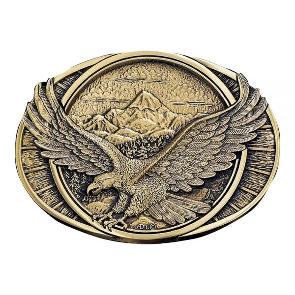 Montana Silversmith Attitude Buckle - Brass Flying Eagle