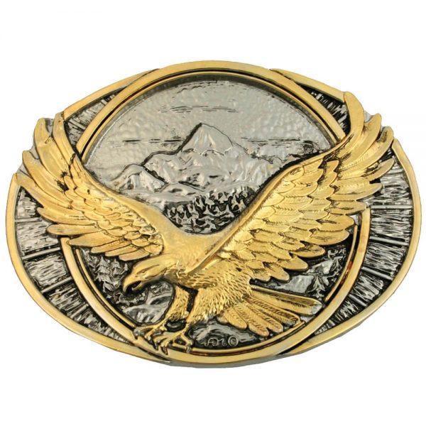 Montana Silversmith Attitude Buckle - Two Tone Eagle