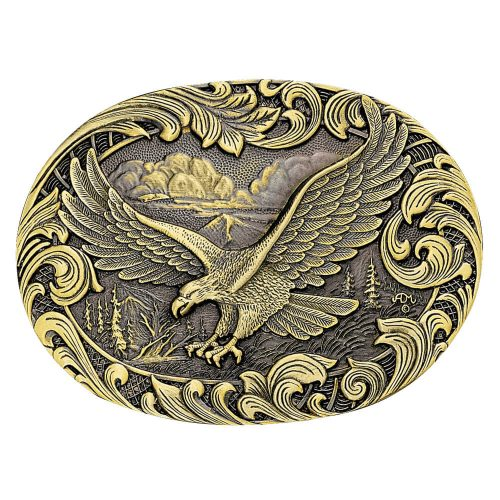 Montana Silversmith Attitude Buckle - Brass Eagle
