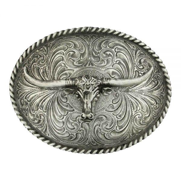 Montana Silversmith Attitude Buckle - Antiqued Longhorn